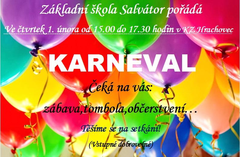 Školní karneval - pozvánka